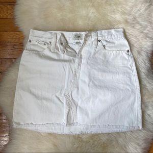 NWOT! J Crew white denim mini skirt